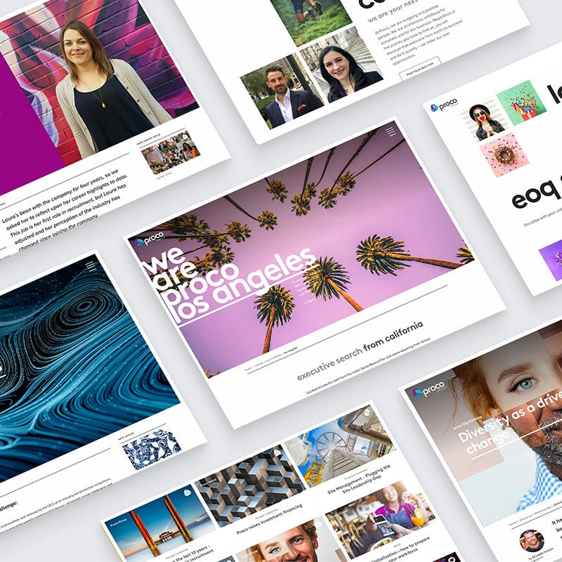 Proco Group website by Fablr